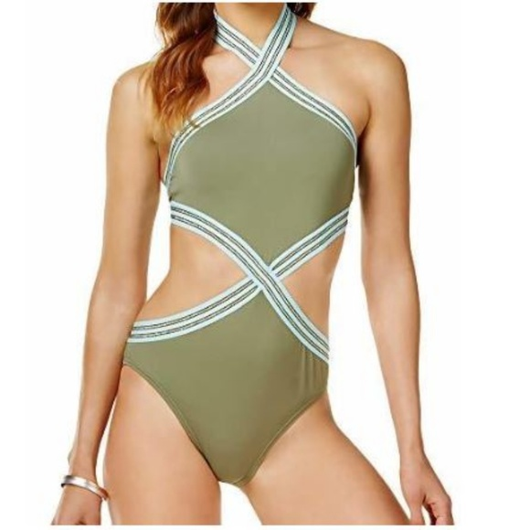 72193124dc Vince Camuto High Neck Sea Band Swimsuit Monokini. Vince Camuto.  M_5c4253d05c44522bea70c5a5. M_5c4253d08ad2f9c0f3d8caf2.  M_5c4253d05c445255a770c5ad